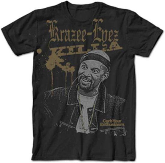 Curb Your Enthusiasm T-shirt Krazii-Eyez Killa Adult Black Tee