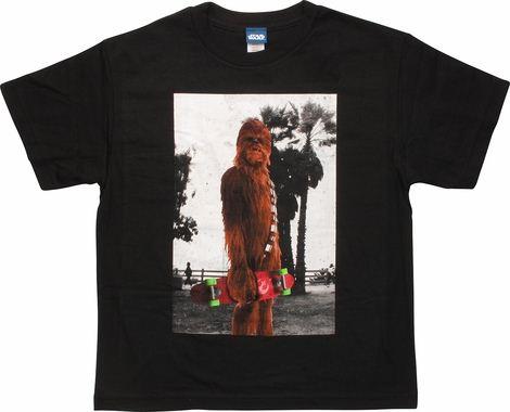 Star Wars Color Chewbacca Skateboard Youth T-Shirt