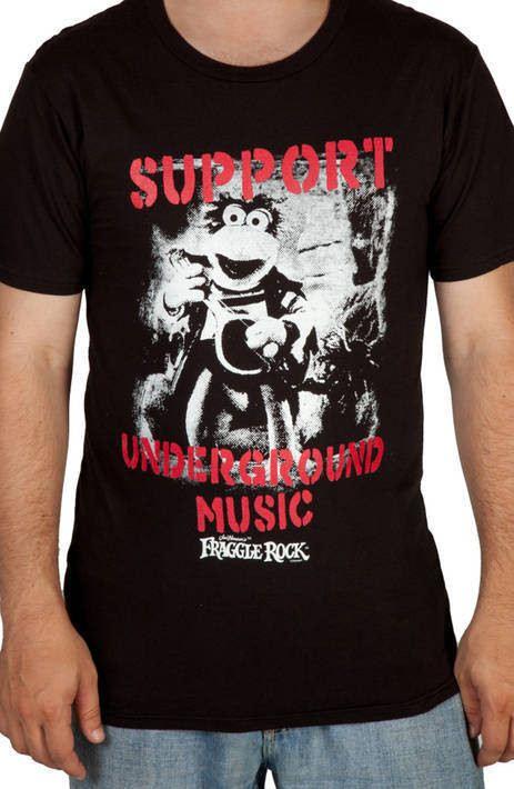 Underground Music Fraggle Rock Shirt