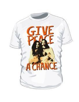 Beatles John Lennon Bed In - Give Peace A Chance Men's T-Shirt