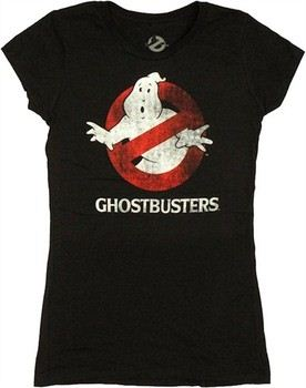 Ghostbusters Logo Name Symbol Distressed Baby Doll Tee