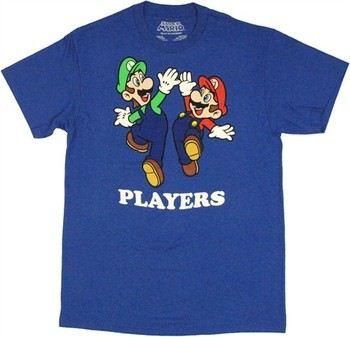 Nintendo Super Mario Luigi Players T-Shirt