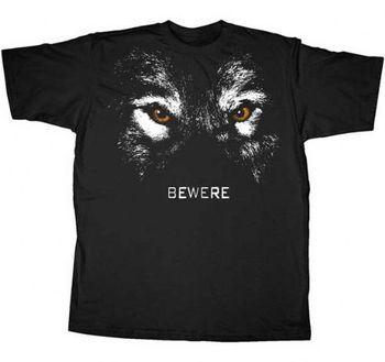 True Blood Bewere Wolf Black Adult T-shirt