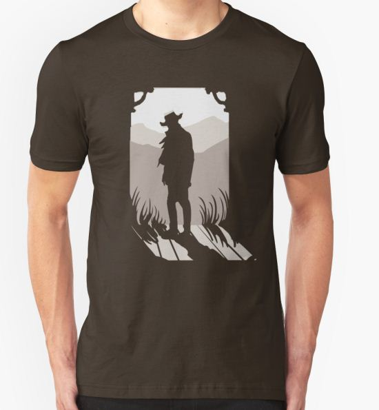 Old Western Silhouette T-Shirt by Megan Glosser T-Shirt