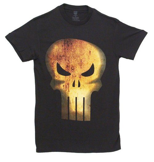 The Punisher Rusty Head Distressed T-Shirt