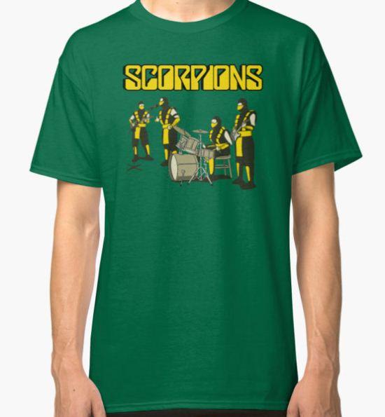 SCORPIONS - MORTAL KOMBAT ROCK BAND Classic T-Shirt by SUPER-TEES T-Shirt