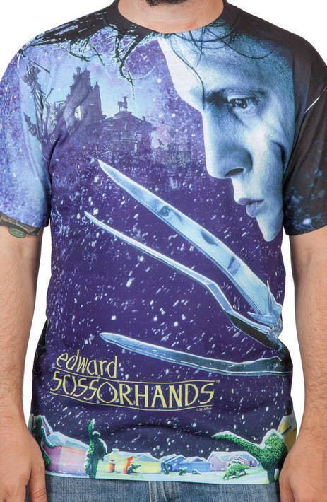 Edward Scissorhands Poster Sublimation Shirt