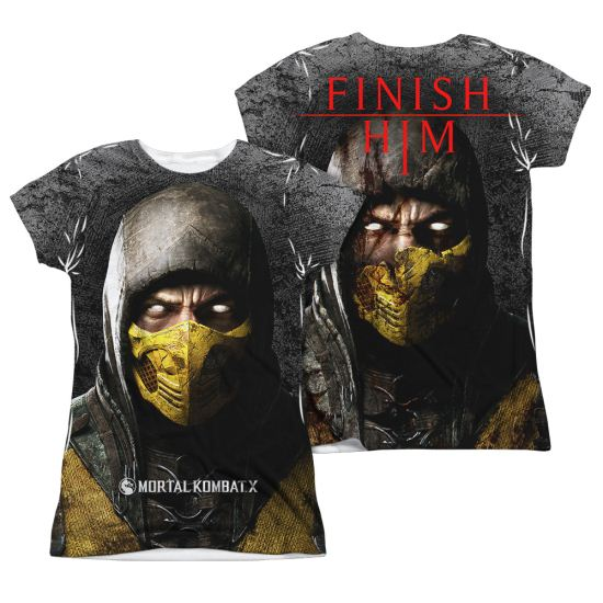 Mortal Kombat Shirt Scorpion Sublimation Juniors Shirt