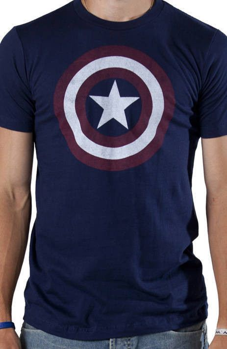 Distressed Captain America Shield Shirt