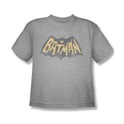 Classic Batman Shirt Kids Show Logo Athletic Heather T-Shirt