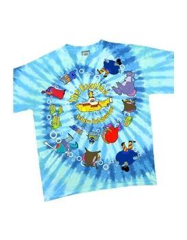 The Beatles Yellow Submarine Spiral Tie Dye Men's T-Shirt
