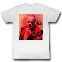 The Godfather Shirt Don Corleone Red Adult White Tee T-Shirt