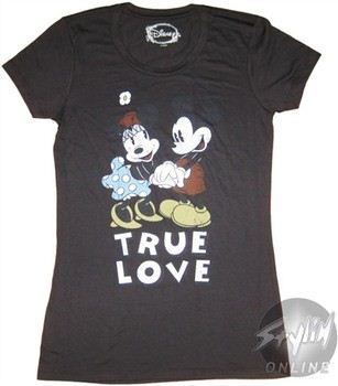 """aa1e8c1d3c ... Disney Mickey Mouse True Love Baby Doll Tee by MIGHTY FINE. """""""