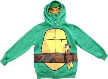 TMNT Teenage Mutant Ninja Turtles Boys Green Costume Hoodie Sweatshirt