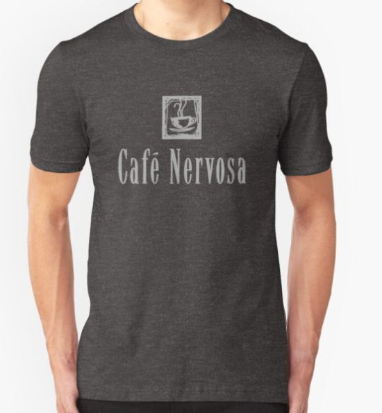 Cafe Nervosa – Frasier, Seattle T-Shirt by fandemonium T-Shirt