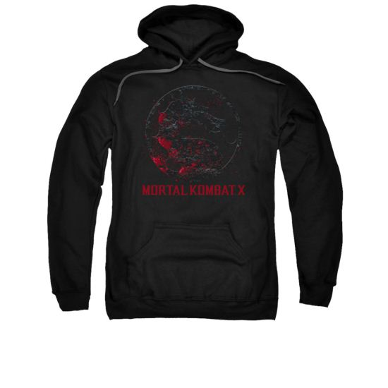 Mortal Kombat Hoodie Bloody Logo Black Sweatshirt Hoody