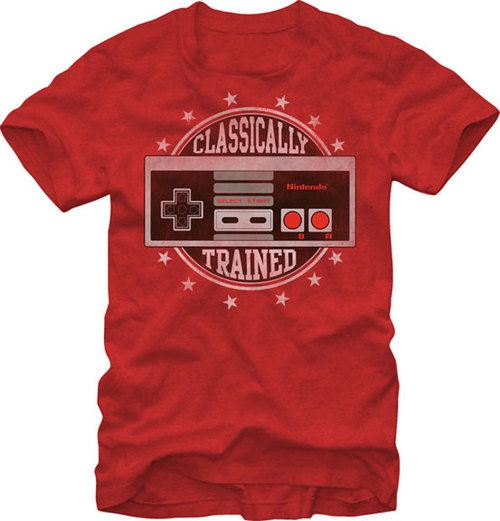 Nintendo Classically Trained Controller Adult Heather Red T-shirt