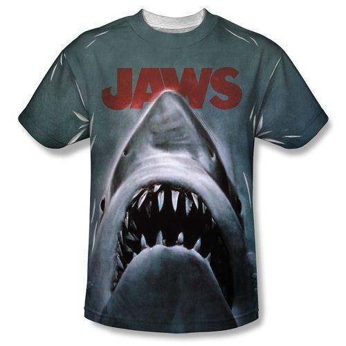 JAWS Shark Head Poster Adult Sublimated T-shirt