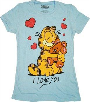 Garfield I Love You Pooky Baby Doll Tee