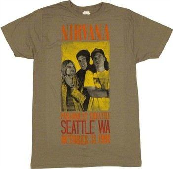 Nirvana Concert Paramount Theatre Seattle Washington October 31 1991 T-Shirt Sheer