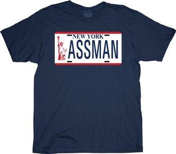 Seinfeld Assman NYC Plate T-shirt