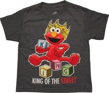 Sesame Street Elmo King of the Street Blocks Juvenile T-Shirt