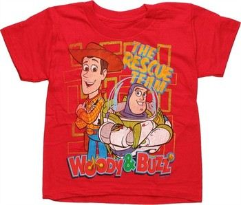 Disney Toy Story Rescue Team Red Juvenile T-Shirt