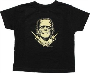 Frankenstein Electric Head Transformers Bolts Toddler T-Shirt