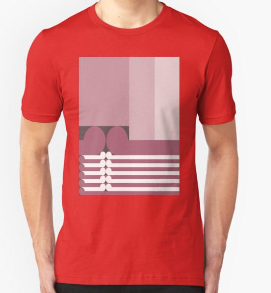 FAMILY TIES   - abstract geometry - plate 10 T-Shirt by GeoAbstractions T-Shirt