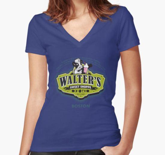 Walter's Sweet Shoppe - FRINGE Women's Fitted V-Neck T-Shirt by Captain RibMan T-Shirt