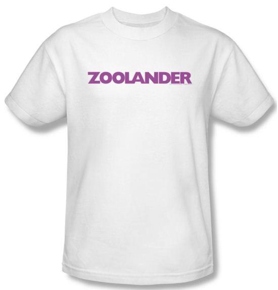 Zoolander Shirt Logo Adult White Tee T-Shirt