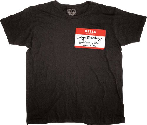 The Princess Bride Hello My Name Is Inigo Montoya Badge T-shirt