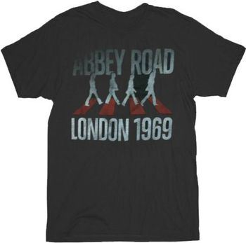 The Beatles London 1969 Abbey Road Black Mens T-shirt