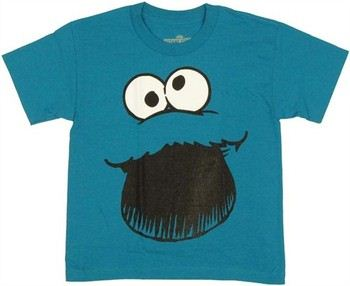 Sesame Street Cookie Monster Big Face Youth T-Shirt