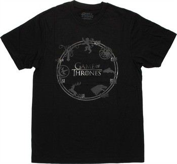 Game of Thrones Seven House Sigil Ring T-Shirt Sheer