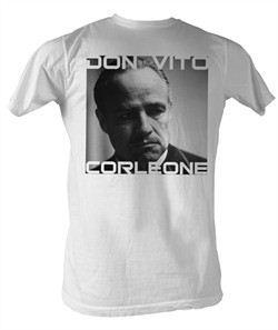 The Godfather Shirt Don Vito Adult White Tee T-Shirt