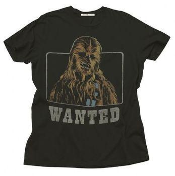 Junk Food Star Wars Chewbacca Wanted Adult Black T-Shirt