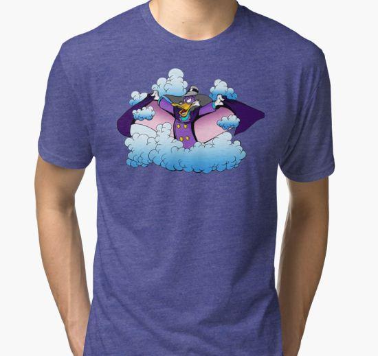 'Darkwing Duck Smoke' Tri-blend T-Shirt by BrewDiust T-Shirt