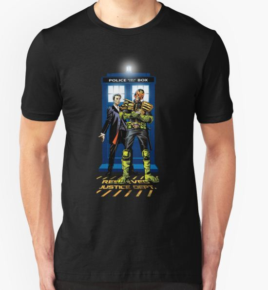 Who Judges The Doctor T-Shirt by CharlieKirchoff T-Shirt