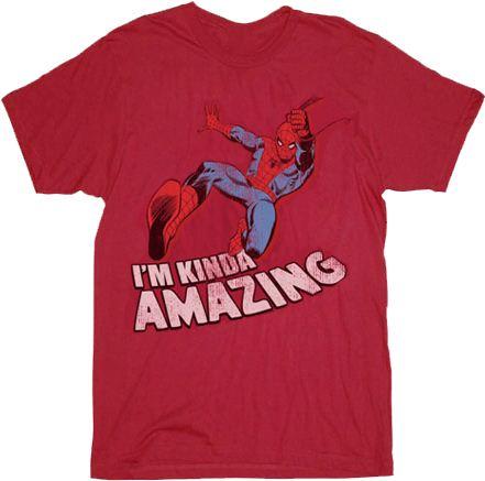 Spider-Man I'm Kinda Amazing Red Mens T-shirt