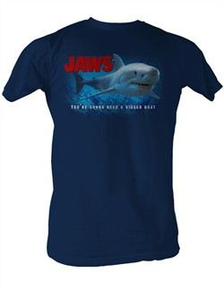 Jaws Bigger Boat Navy T-shirt