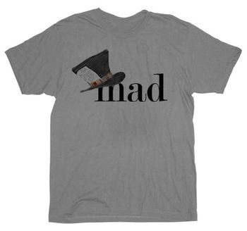 Alice in Wonderland Mad Hatter MAD Heather Gray T-Shirt