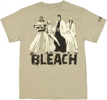 Bleach Group Splatter Name T-Shirt
