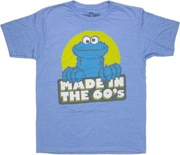 Sesame Street Cookie Monster Made in the 60's T-Shirt Sheer