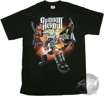 Guitar Hero III Legends of Rock God of Rock T-Shirt