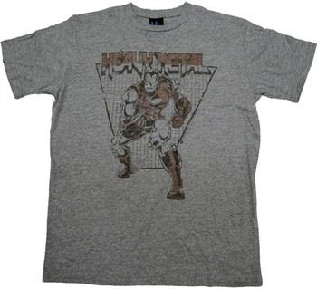 eac20467 ... Marvel Comics Iron Man Heavy Metal T-Shirt Sheer by JUNK FOOD. ""
