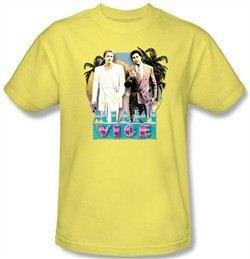 Miami Vice T-shirt 80s Love Classic Adult Banana Tee Shirt