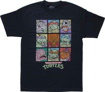 Teenage Mutant Ninja Turtles Vintage Character Grid T-Shirt