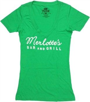 True Blood Merlotte's Bar and Grill Logo Green Baby Doll Tee