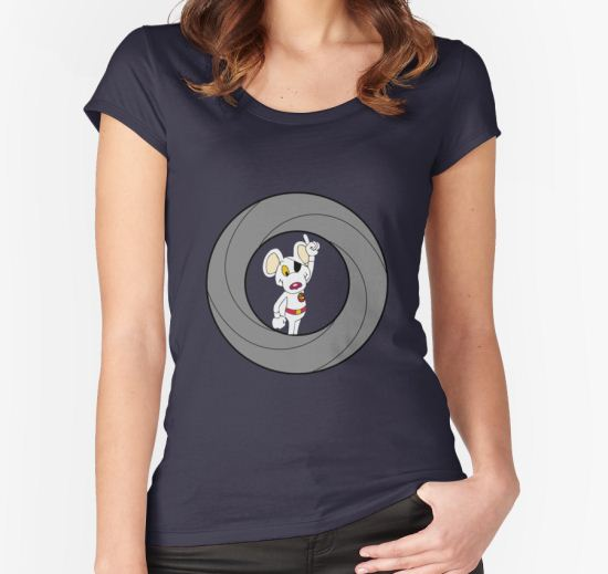 00-Mouse  Women's Fitted Scoop T-Shirt by CaptMoose T-Shirt